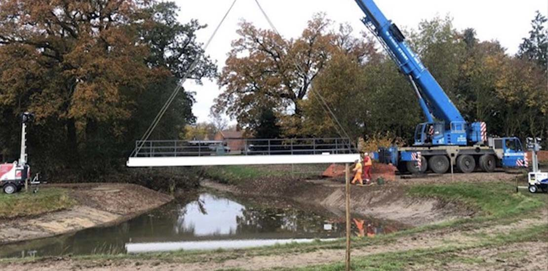 Octagon Park Bridge Installation
